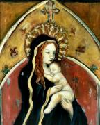 Jesus Art Painting Framed Prints - Madonna and Child Framed Print by Carrie Joy Art