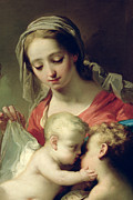 Infants Paintings - Madonna and Child by Gaetano Gandolfi