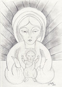 Madonna And Child Print by John Keaton