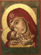Virgin Mary Paintings - Madonna and Child Korsun by Phillip Schwartz