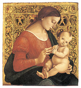 Virgin Mary Paintings - Madonna and Child by Luca Signorelli