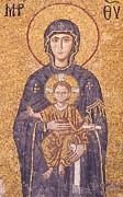 Byzantine Prints - Madonna and Child Print by MaryJane Armstrong