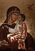 Orthodox Painting Prints - Madonna and Child Print by Olimpia - Hinamatsuri Barbu