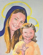 Religious Art Paintings - Madonna and Child by Susan  Clark