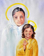 Child Jesus Painting Originals - Madonna and Child by Susan Lee Clark