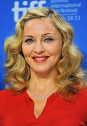 Curled Hair Prints - Madonna At The Press Conference Print by Everett