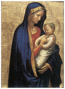Religious Art Paintings - Madonna Casini by Tommaso Macassio