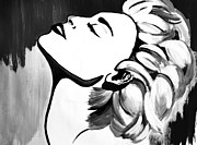 Ambition Drawings Prints - Madonna Print by Cat Jackson