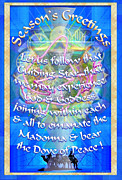 Chalicebridge.com Posters - Madonna Dove Chalice-Synthesis and Logos with text Poster by Christopher Pringer