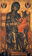 Icon Byzantine Photo Framed Prints - MADONNA ICON, 13th CENTURY Framed Print by Granger