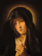 Virgin Mary Painting Prints - Madonna Print by Il Sassoferrato