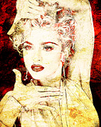 Unique Art Digital Art Framed Prints - Madonna Framed Print by Juan Jose Espinoza