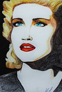 Madonna Drawings - Madonna Live to Tell by Louise Griffiths