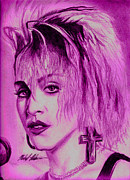 Photorealism Mixed Media Prints - Madonna Print by Michael Mestas