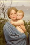 Christ Child Painting Prints - Madonna of the Mount  Print by Thomas Cooper Gotch