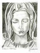Madonna Drawings Prints - Madonna Of The Pieta Print by John Keaton