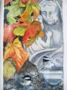 Cemetary Paintings - Madonna  by Patricia Pushaw
