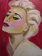 Pop Icons Painting Originals - Madonna Red Hot by Diana Riukas