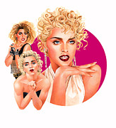Rock And Roll Music Mixed Media Originals - Madonna by Steven Stines