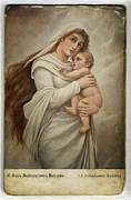Tender Digital Art Framed Prints - Madonna with child Framed Print by Gun Legler