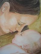 Paris Drawings Originals - Madre Amore by Diane Sellers