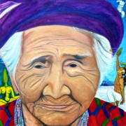 Corn Paintings - Madre Tierra by Carlita  Shaw