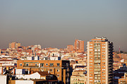Polluted Prints - Madrid Cityscape Print by Artur Bogacki
