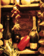 Wine Cellar Photos - Madrid Food and Wine Still Life I by Greg Matchick