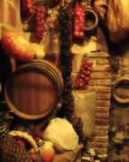 Wine Cellar Photos - Madrid Food and Wine Still Life II by Greg Matchick