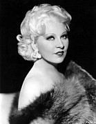 Bare Shoulder Framed Prints - Mae West, 1936 Framed Print by Everett