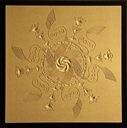Wood Carving Originals - Maelstrom relief by DB Artist
