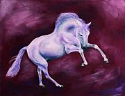 White Horse Pastels Originals - Maestoso VI by Sabina Haas