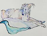 Wolfhound Framed Prints - Maevis Framed Print by Pat Saunders-White