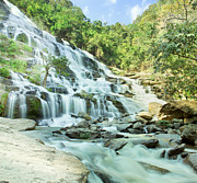 Park Scene Photo Originals - Maeyar waterfall by Anek Suwannaphoom