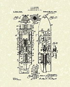 1920 Drawings Framed Prints - Magazine Rocket 1920 Patent Art Framed Print by Prior Art Design