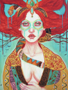 Visionary Art Painting Prints - Magdala Rising Print by Tammy Mae Moon