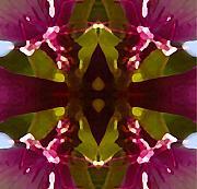 Magent Crystal Flower Print by Amy Vangsgard