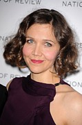 Bobbed Hair Framed Prints - Maggie Gyllenhaal At Arrivals For The Framed Print by Everett
