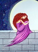 Gown Drawings - Maggies Lullaby by Danielle R T Haney
