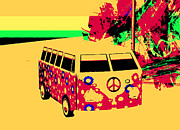 Magic Bus Posters - Magic Bus to Jamaica Poster by Phil Strang