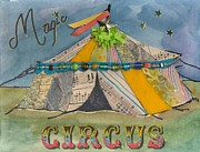 Beads Mixed Media Prints - Magic Circus Print by Casey Rasmussen White