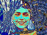 Magic Mixed Media - Magic Girl by Navo Art