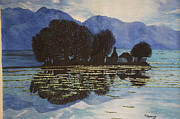 Kashmir Painting Originals - Magic Island by Bhagvati Nath
