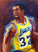 Lakers Painting Originals - Magic Johnson by Vivian Crowhurst