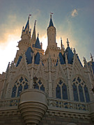 Magic Pyrography Posters - Magic Kingdom - Cinderella Castle Poster by AK Photography