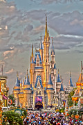 Manatee Co. Photos - Magic Kingdom Magic Hour by Nicholas Evans