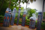 Magic Kingdom - Tiki Statues Print by AK Photography