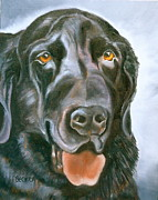 Labrador Black Labrador Posters - Magic Lab Poster by Susan A Becker