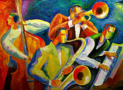 Jazz Band Prints - Magic Music Print by Leon Zernitsky