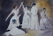 Ballet Dancers Painting Framed Prints - Magic Framed Print by Patsy Sharpe